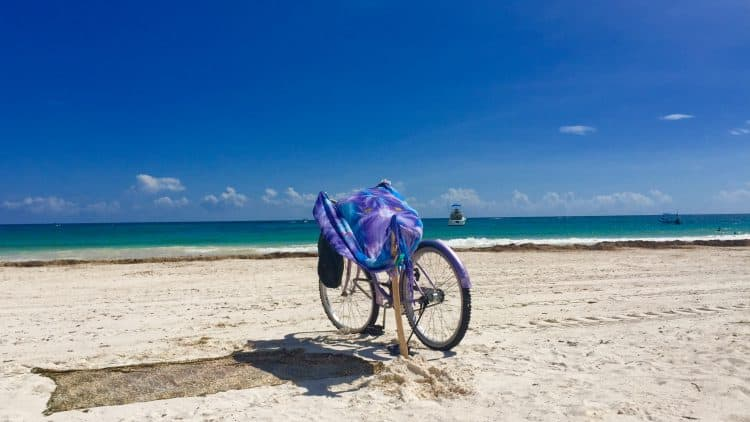 my bicycle on tulum's beach - how Mexico changed me for the better