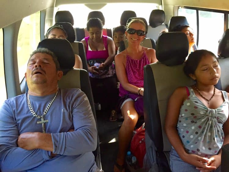 me on a colectivo with other riders napping - how Mexico changed me for the betterhow Mexico changed me for the better