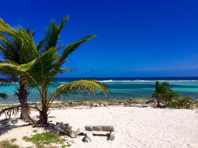 mahahual-beach-bench