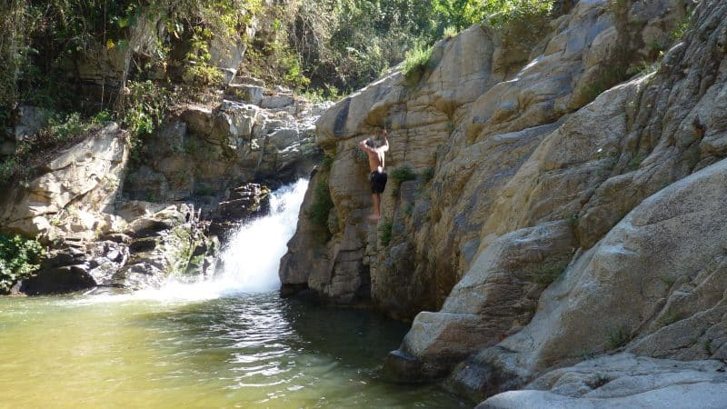 Tedly jumps at Yelapa waterfall