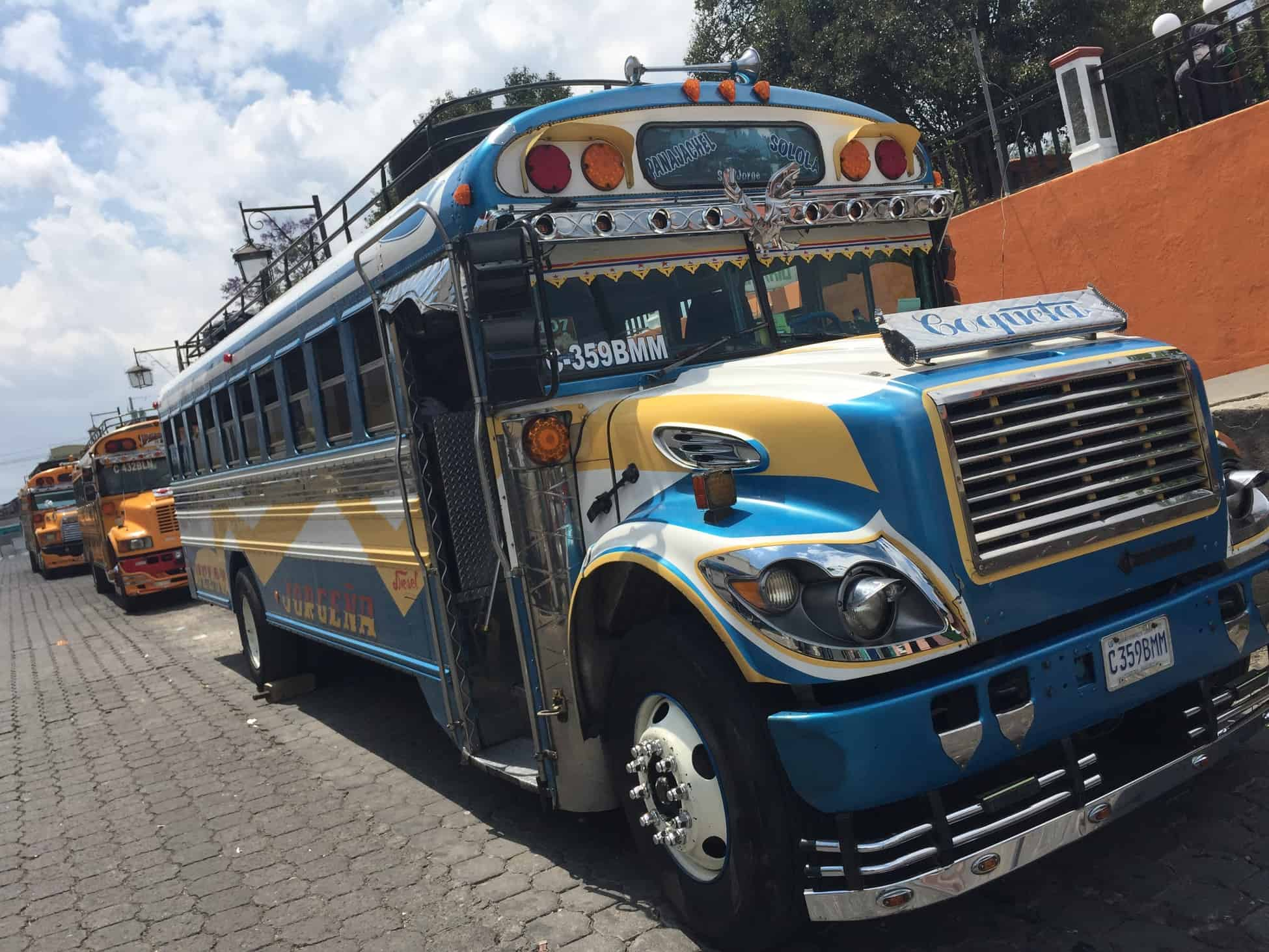 Chicken buses, a boat, and tuk tuks to Lake Atitlan from Guatemala City 2