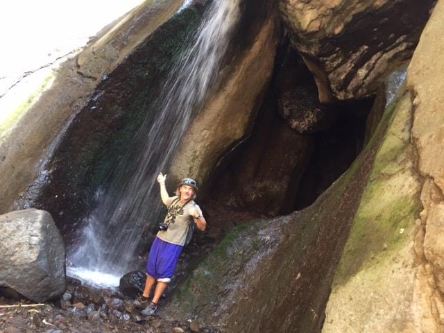 Tzununa waterfall at Lake Atitlan revealed