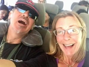 Hold tight! The crazy shuttle bus ride from Antigua to San Cristobal