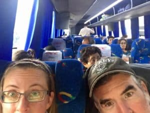 The bus trip from San Cristobal to Oaxaca City, and the immigration stop along the way
