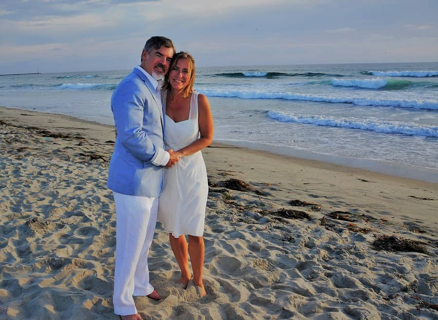 Theo and Ellen were married on Mission Beach, San Diego, California, on June 29, 2015.