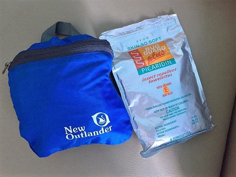 our day bag closed up shows how small it is and that's why it's one of the top 10 items on our pack list