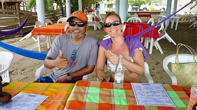 vidal and me at playa largo near Zihuatanejo