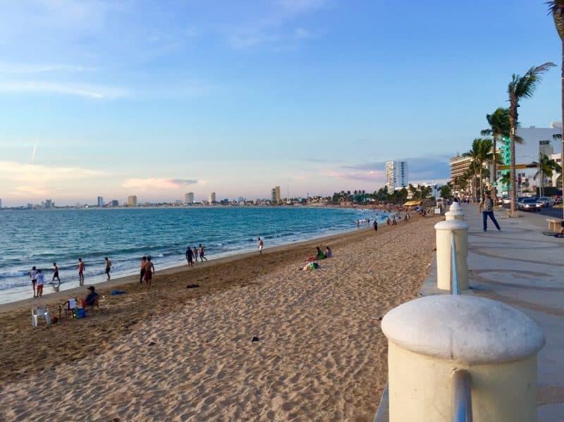 a sea walkway by a beach a few blocks from where i had a gynecologist checkup in mazatlan