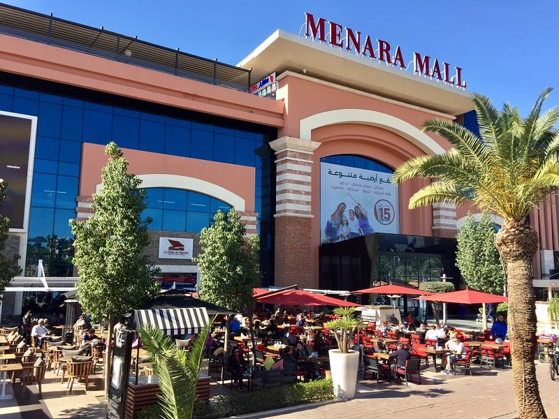 the menara mall in marrakesh outside the old historic section of the city