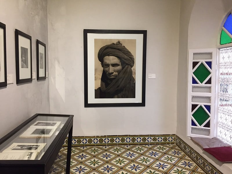 a photography exibit at the house of photography in marrakesh.