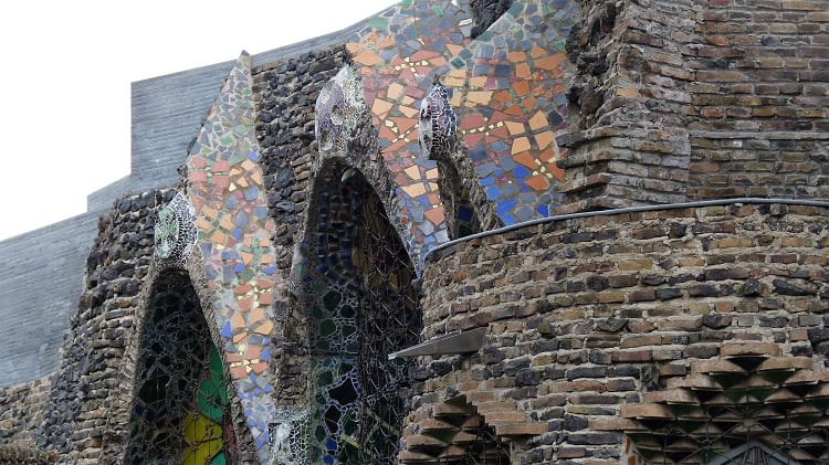 the side of another church built by gaudi