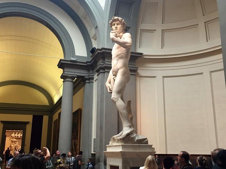Michelangelo's David sculpture in Florence, Italy.