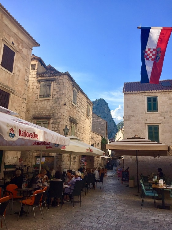 omis croatia old town cafes