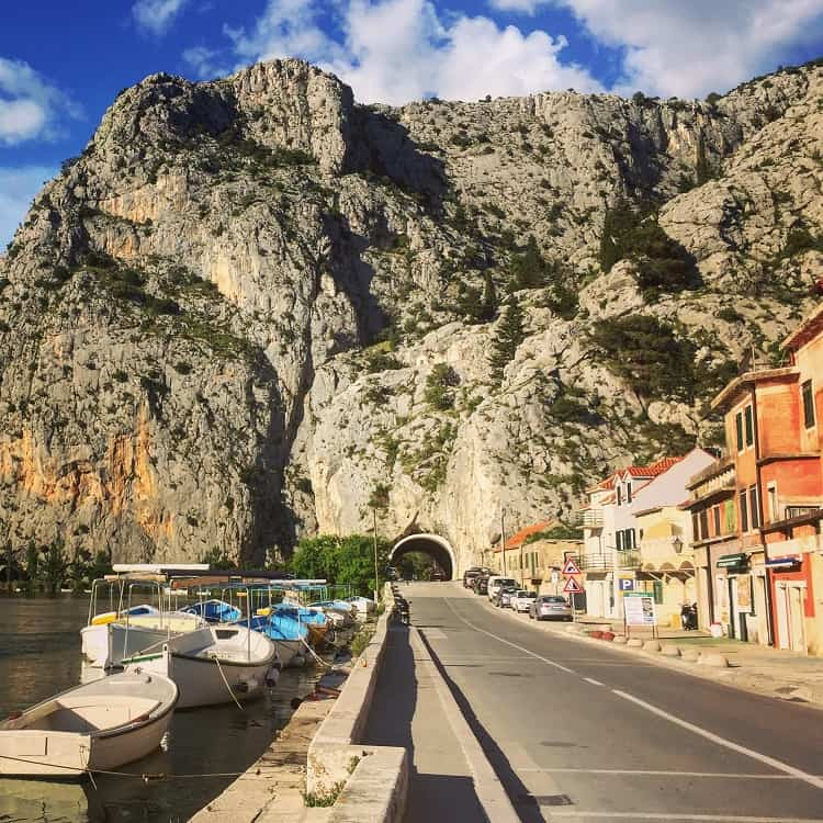 stunning view of mountains in omis croatia