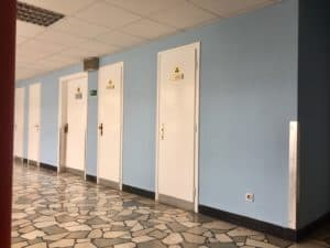 hallway of the public hospital in split croatia, where i had a biopsy in a foreign country