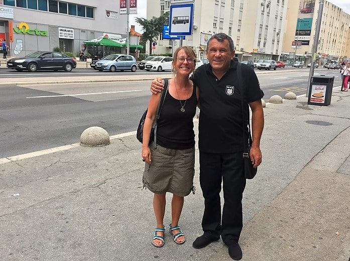 a man who helped me make an appointment for a biopsy in a foreign country