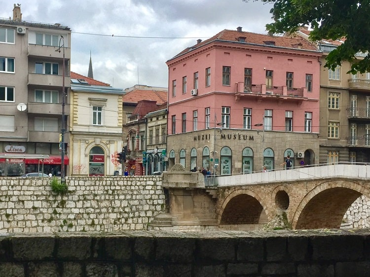 the latin bridge is a site on one of two walking tours in sarajevo