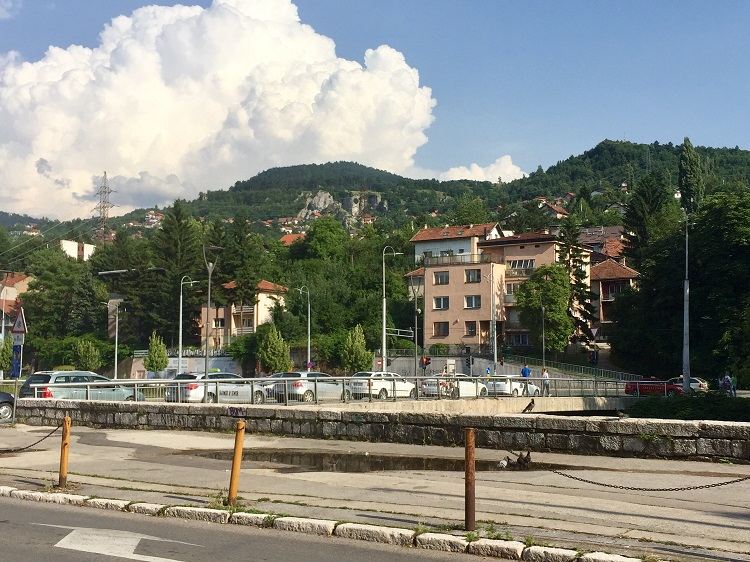 sarajevo's romeo and juliet bridget - where one lover was muslim and one was christian, and they both were shot by snipers as they tried to flee the city.