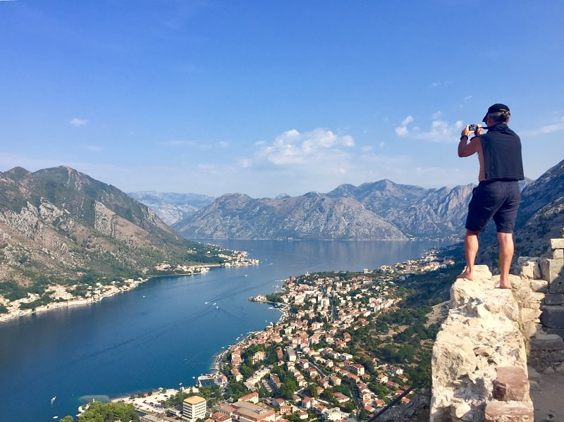 Wow! Amazing views from Kotor castle ruins