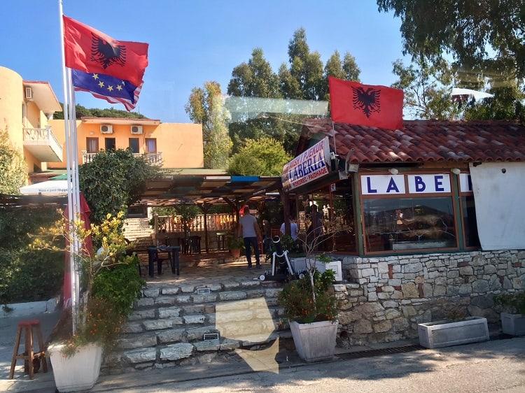 Albania, EU, American flags