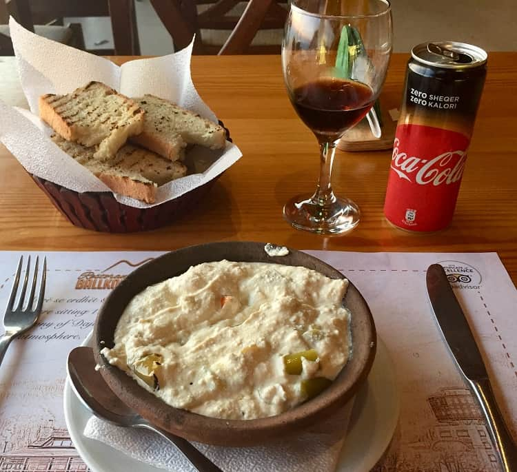 a sample of albanian food in tirana