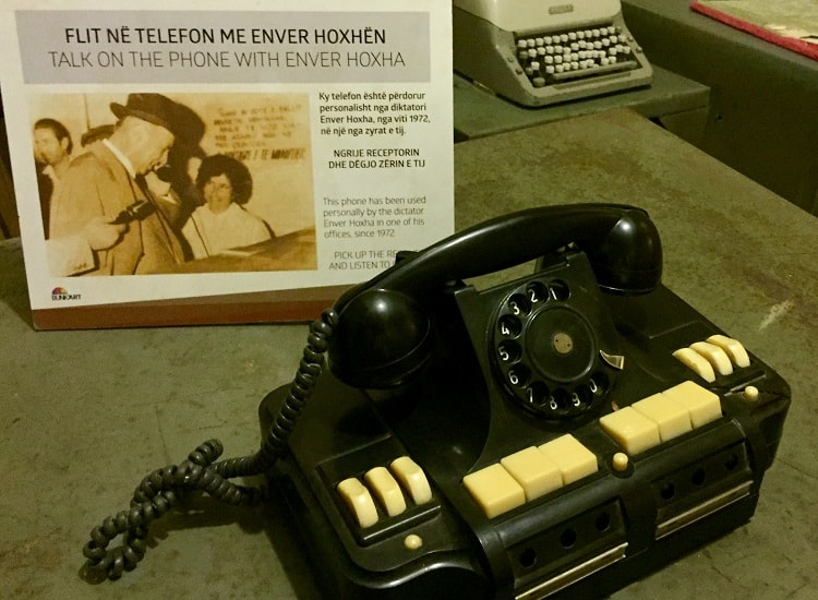 relics from the atomic era include old phones at BUNK'ART 1, atomic war bunker
