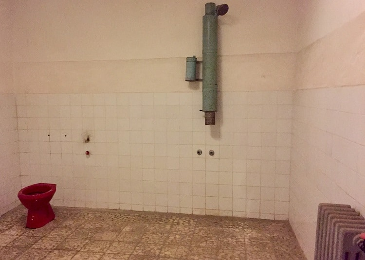 a basic bathroom for hoxhas was spacious at BUNK'ART 1, atomic war bunker