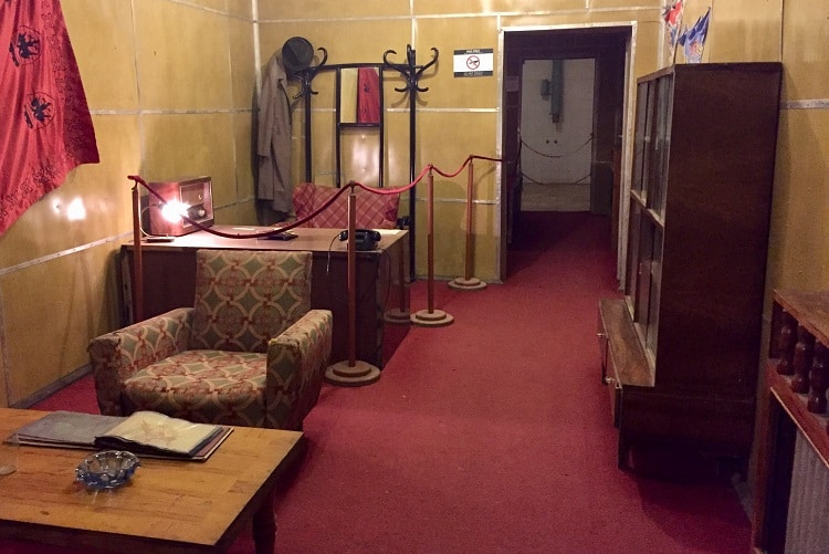 dictator quarters at BUNK'ART 1, atomic war bunker