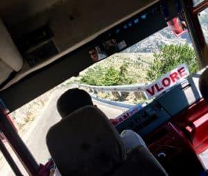 Fun furgon travel in Albania from Tirana to Saranda