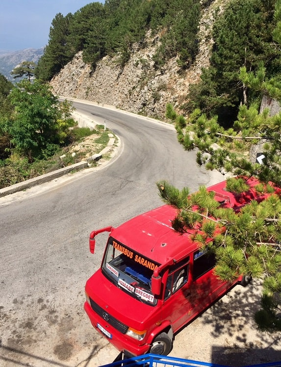Fun furgon travel in Albania from Tirana to Saranda 7