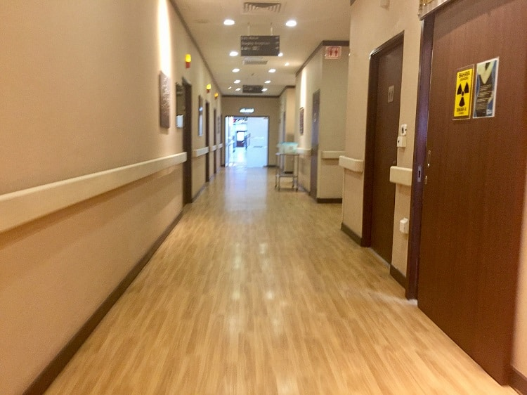 the hospital where I had an oncologist review my case of breast cancer while traveling