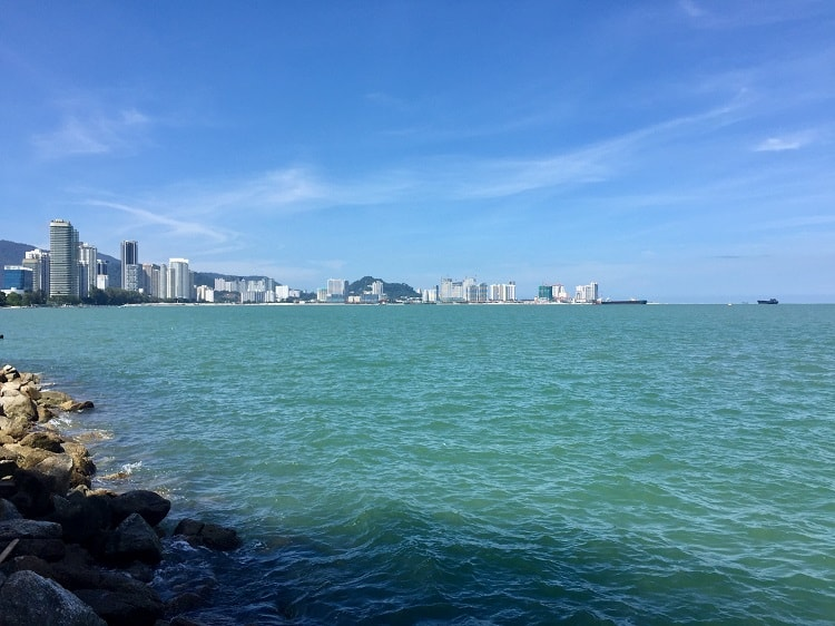 a sea view on penang island enjoyed by expats in malaysia