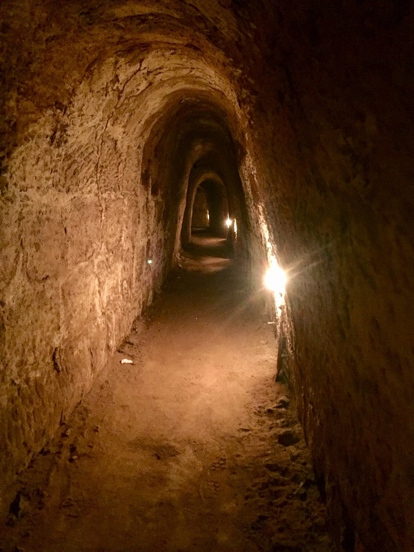 a dark view of the cu chi tunnels
