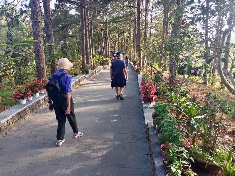 a garden in dalat, vietnam