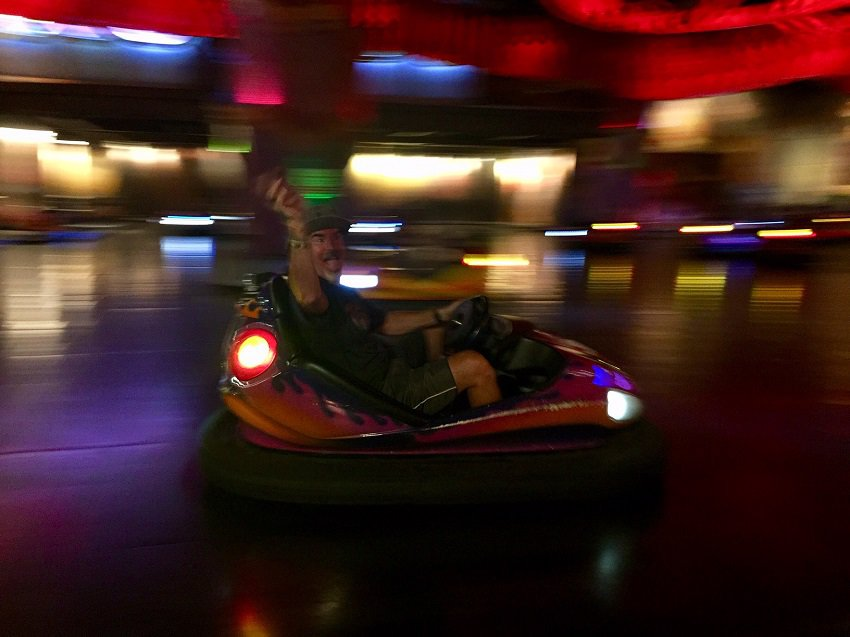 bumper cars in the entertainment area of Ba Na Hills