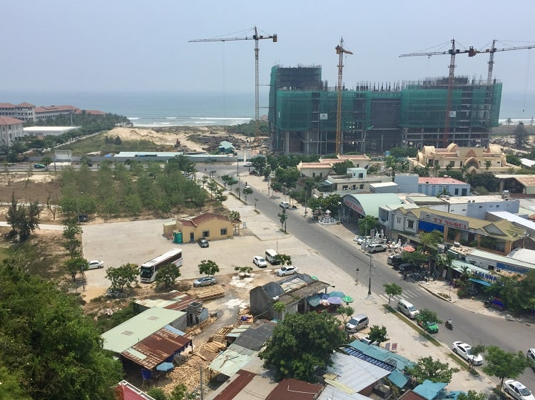 construction crews are common sights in danang and hoi an as development continues