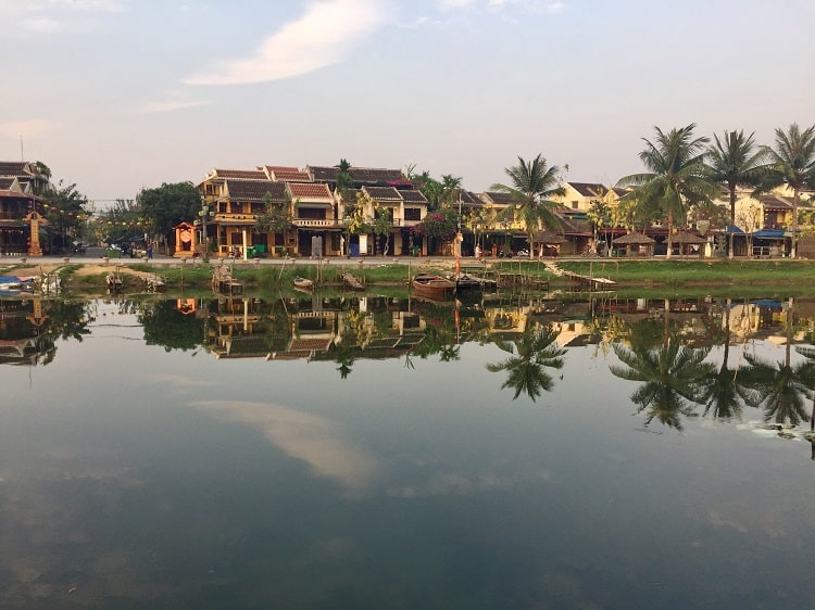 riverview of vietnamese buildings in hoi an