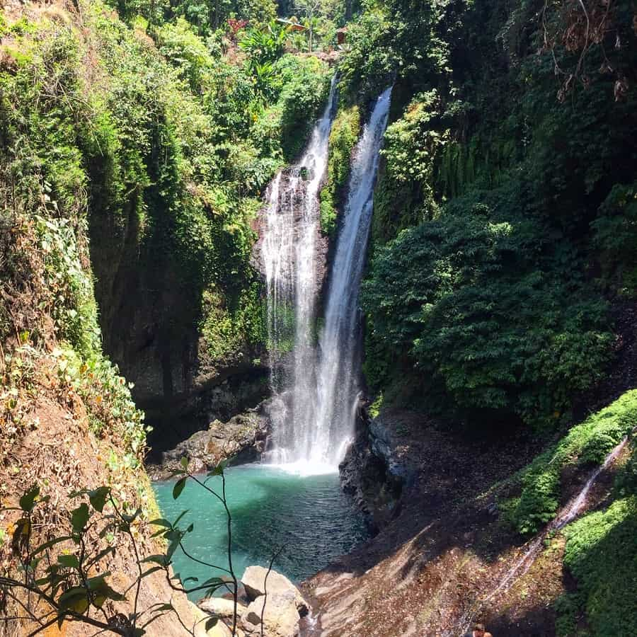 Aling Aling waterfall in Bali