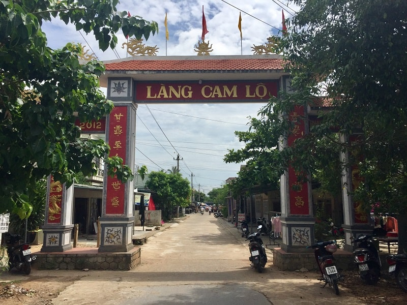 Cam Lo Village entrance, the old part of town that was there in the 1960s, as seen from the DMZ tour.