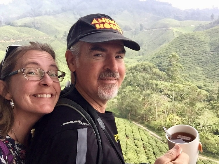 Ellen and Tedly in northern Vietnam at Cameron Highlands
