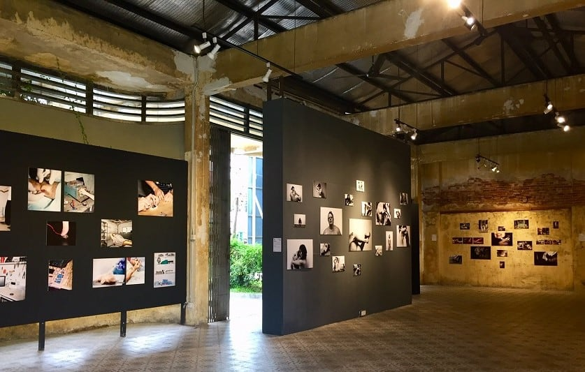 Photography exhibit at the Hin Bus Depot in George Town, Malaysia.