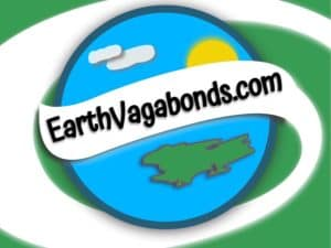 earthvagabonds.com logo with Earth, sun, clouds