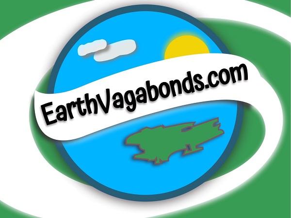 earthvagabonds.com log with Earth, sun, clouds