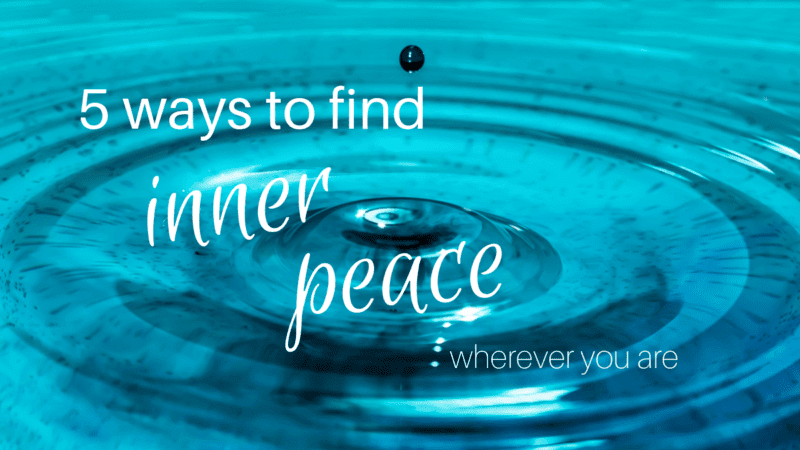 5 ways to find inner peace - picture of a water drop bouncing in water