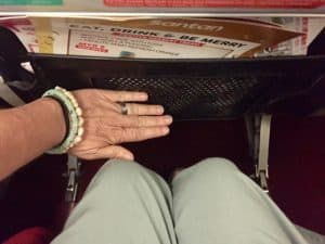 Leg room on an AirAsia flight from Penang, Malaysia, to Phuket, Thailand.