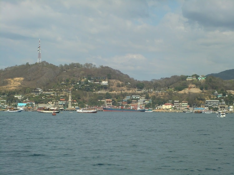 Labuan Bajo is the town where tourists seek out boat tours of the Komodo dragons and islands.
