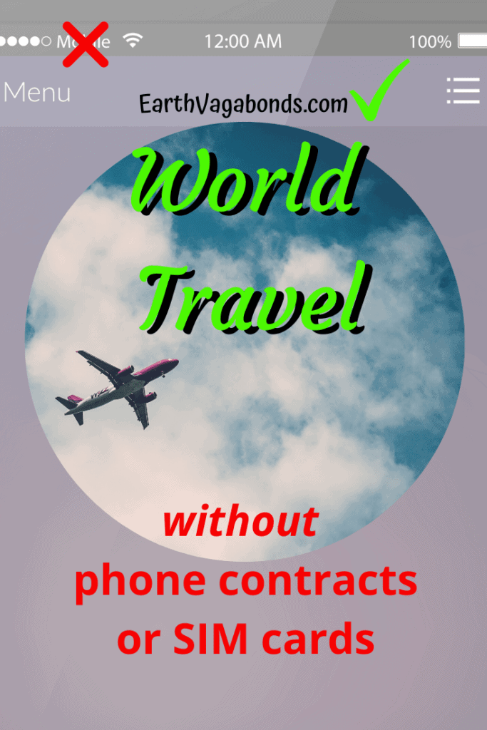 World travel without a phone contract, SIM card 2