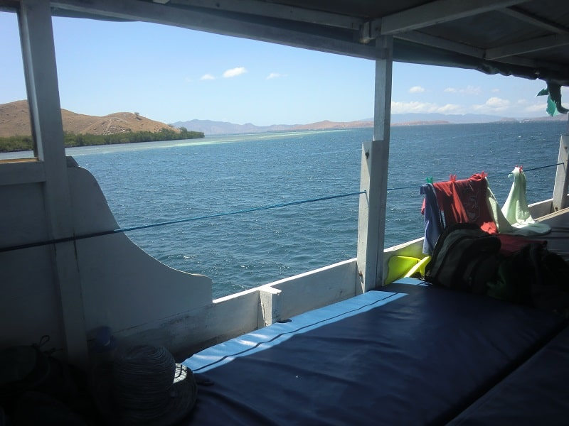 sleeping mats on cheap komodo dragon boat tour