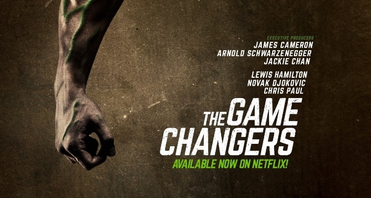 the game changers documentary advertisement announcing the film is available on netflix