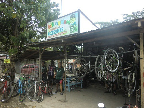 adventure cycling starts at used bike shops like this one for retired budget travelers